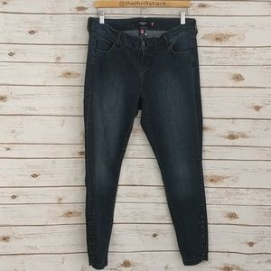 Torrid Blue Jeans Skinny Button Ankle 14